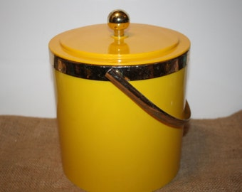 Retro Yellow Ice Bucket