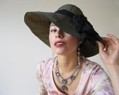 80s Sun Hat Ralph Lauren in ribbon design
