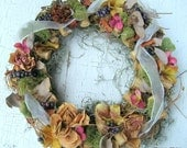 Wine & Roses Dried Flower Wreath