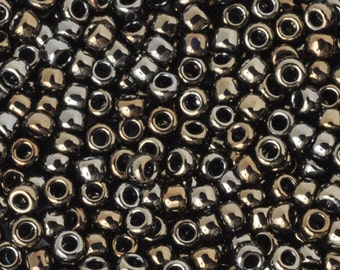 Seed Beads-8/0 Round-83 Iris Brown-Toho-16 Grams