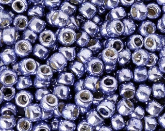 Seed Beads-11/0 Round-PF567 Permanent Finish-Metallic Polaris-Toho-16 Grams