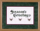 Season's Greetings - Hardanger Design - Chart 128 by Emie Bishop of Cross'N'Patch