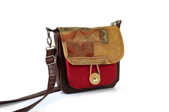 Autumn Cross Body Bag in Brown & Gold