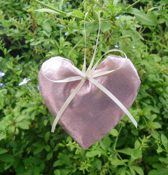 50% OFF SALE Set of 6 Heart Shaped Ornaments Pretty in Pink