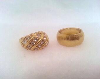 Bling Bling 2 rings Avon vintage