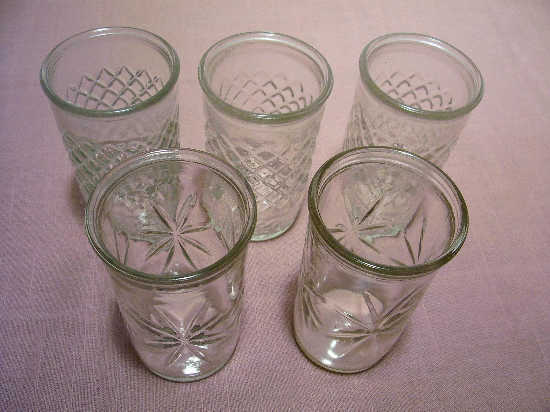 Vintage Jelly Jar Juice Glasses 5