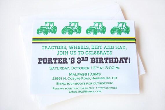 Tractor Invitation