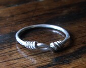 Silver Viking Knot Ring, a hand forged knotted ring made to order