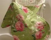 Baby Girl Barefoot Rose Bib 'n' Burp Cloth Set