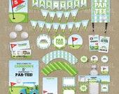 Golf Birthday PAR-TEE Party Package - Decorations Favors - DIY digital file U Print
