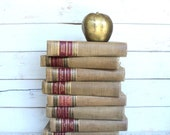 Red, Beige, Gold  Classics Club Walter J Black Set of 9 Brown, burgundy, black  & Gold Back to School, Home Office