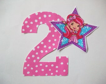 DIY No-Sew - Strawberry Shortcake Applique and Number - Iron On