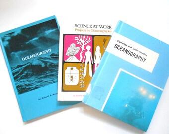 Oceanography Books, Set of Three Vintage Children's Books