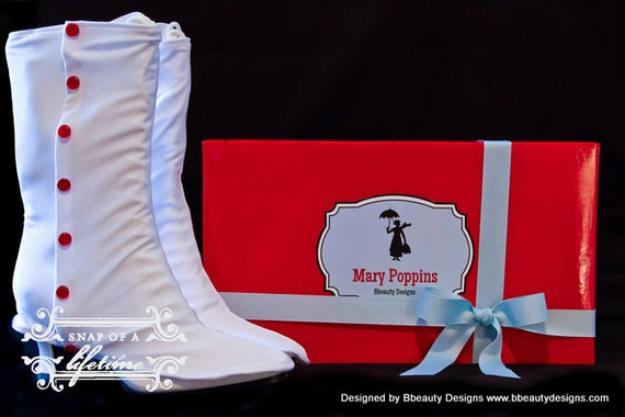Mary Poppins Custom Spats and Victorian Jolly Holiday Boots Adult Costume
