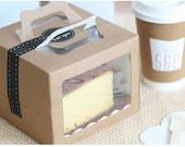 Kraft  Window Mini Box (4boxes)14X14X10.8cm - swp0082
