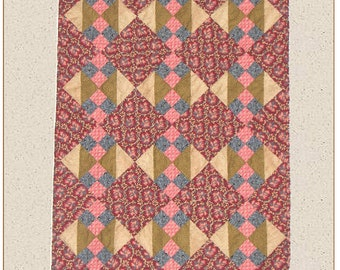 Aunt Sadies Dress Scraps Quilt Pattern PDF Reproduction Traditional Style