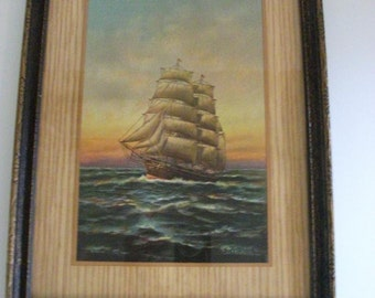 Vintage Sailing Ship Picture
