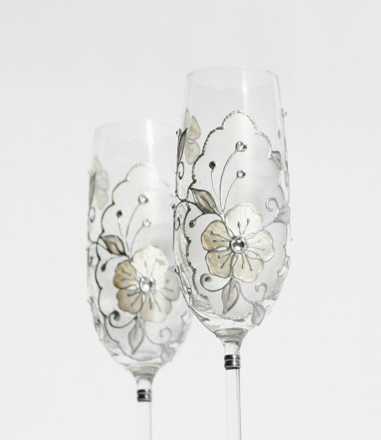 reserved for dolan crystal wedding champagne flutes hand