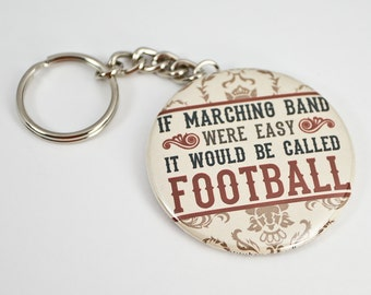 Funny Marching Band Keychain - 2.25 inch button style