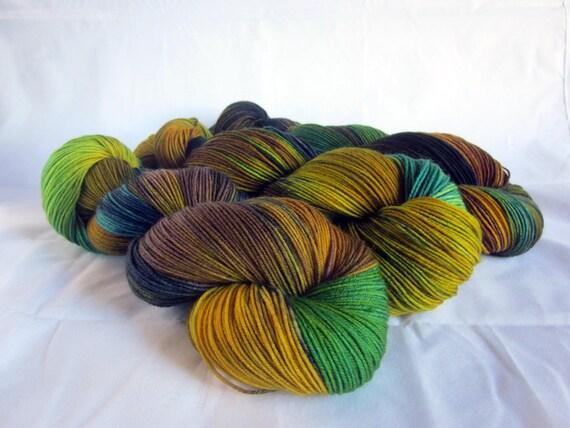 Spring Tide  4 Ply Sock Yarn.  Enchanted Summer.