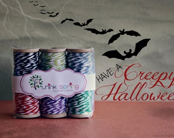 "Bakers Twine on Wooden Spool ""Creepy Halloween"""