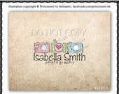 Custom Premade Logo Design - Three Digital camera heart illustration  logo photography business boutique by princess mi logo1172-1