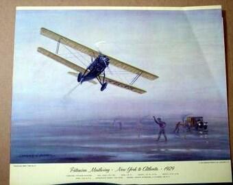 1929 USPS Pitcairn Aviation Mailwing Mail Plane Biplane NY to Atlanta