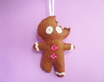 Felt Ornaments, Gingerbread Man, Gifts for men