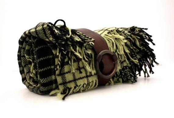 RESERVED FOR Lenae // Vintage WOOL Plaid Picnic Blanket by Eskimo