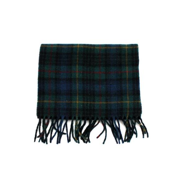 Vintage PLAID Wool Scarf Made in Scotland