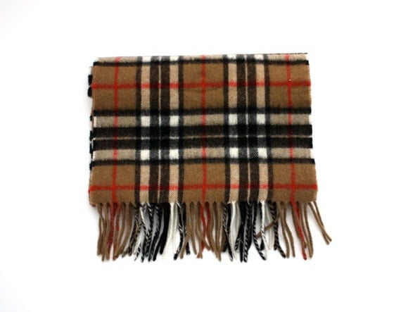Vintage PLAID Highland Tweeds Lambswool Scarf