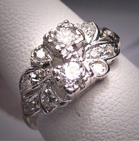antique diamond wedding ring band vintage art deco 1920. Black Bedroom Furniture Sets. Home Design Ideas