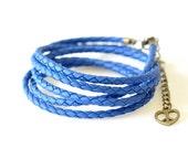Multi Strand Wrap Bracelet - Blue