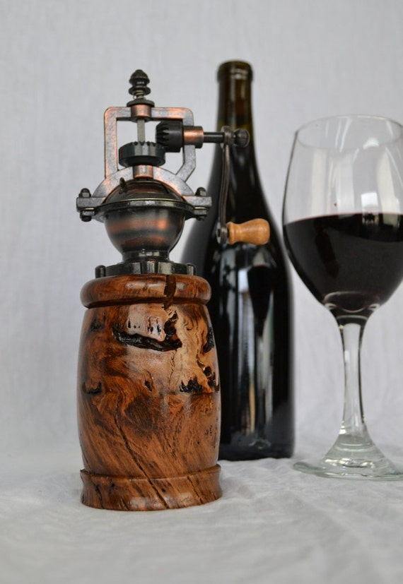 Old Vine Grapevine Pepper Grinder - Made from 100 year old California ancient grapevines