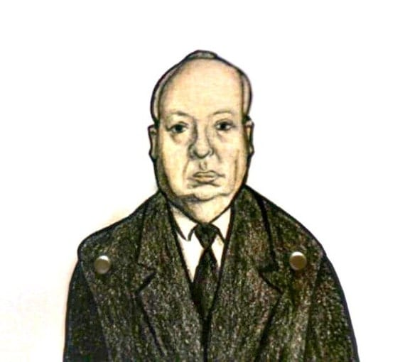 Alfred Hitchcock Paper Doll Articulated - Classic Film Director
