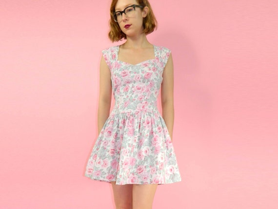 Rose Dress Pastel Sweetheart Short Small