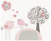 Baby Girl Nursery Decor, Girl Nursery Art, Nursery Wall Art, Baby Girl Room Decor, Girl Nursery Wall Art, Light Pink Gray, shabby chic
