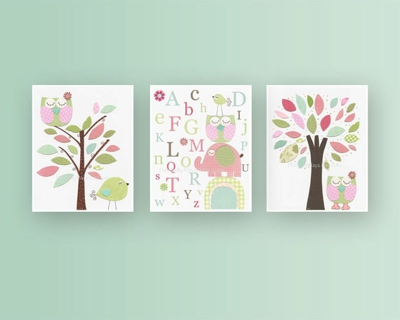 Girl Nursery Wall Decor girl nursery decor girl nursery art baby girl nursery wall
