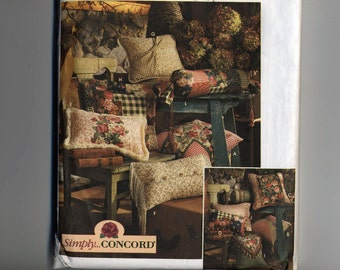 Uncut Simplicity 0642 Simply Pillow Toss Decorative  in 12 styles Concord Home Decor Craft Sewing Pattern