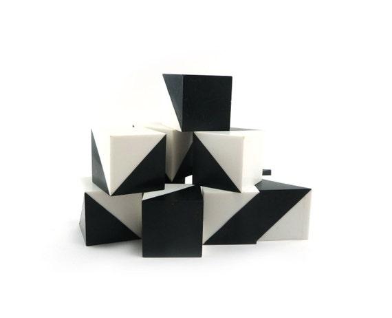 Pattern Pending toy blocks - vintage 70s geometric building blocks