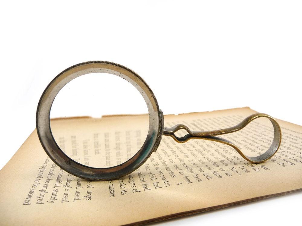 Antique Magnifying Glass Handheld Vintage Magnifier