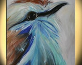 """birdie pets giclee Modern Abstract  Large Painting 24""""x30"""" by LILIANA GRAHAM"""