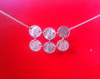 Sixty.  Dime Party Necklace