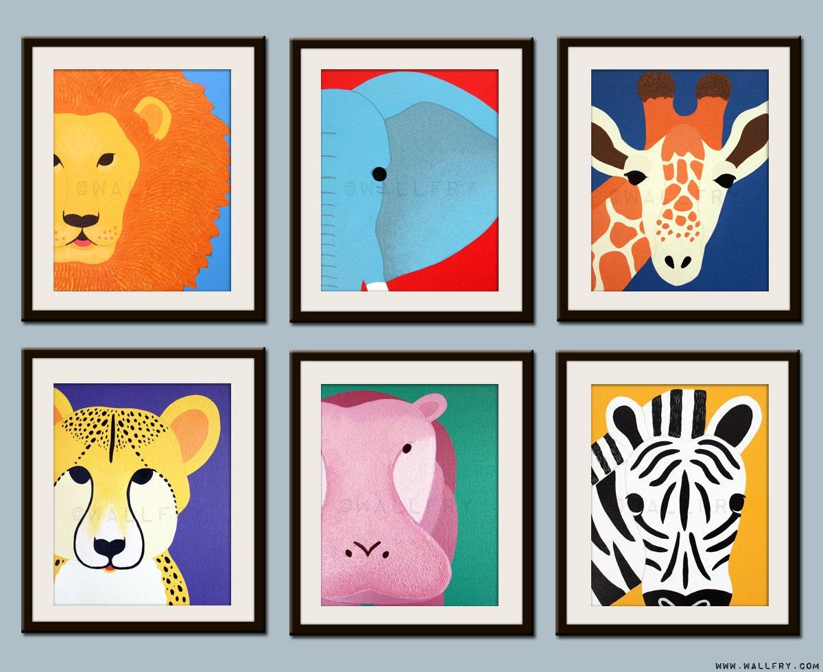 kids art for children kids decor jungle nursery art safari