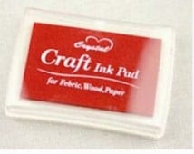 Stamp Ink Pad Oil Based waterproof for wood, fabric and paper - RED