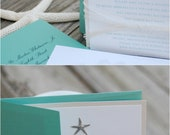 Oceans of Love Invitation Suite - starfish & seahorse nautical beach wedding - sample listing
