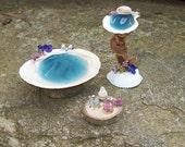 Fairy Furniture BATH SINK VANITY Dollhouse Miniature Mermaid Shell Fairy House Decor