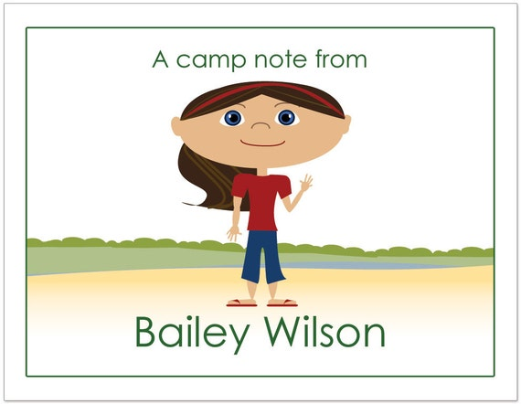 Summer Camp Note Cards