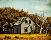 Mixed Media Photo Collage Distressed Rural Home - Fine Art Photo entitled Homestead  -  8 X 10