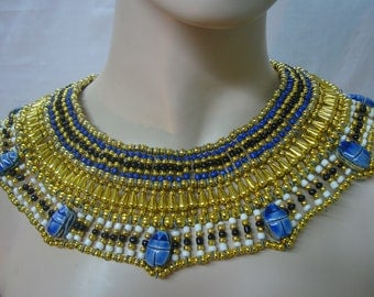 Egyptian  Queen Cleopatra Necklace 7 Scarab